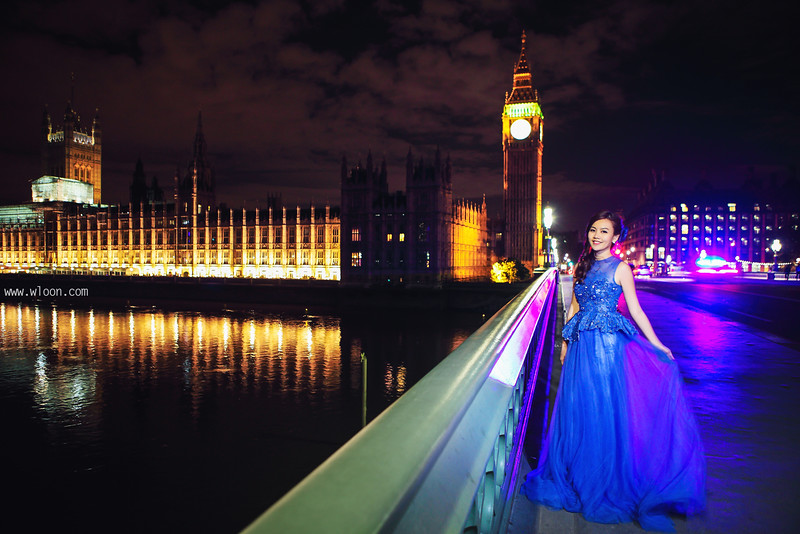 london night scene pre wedding