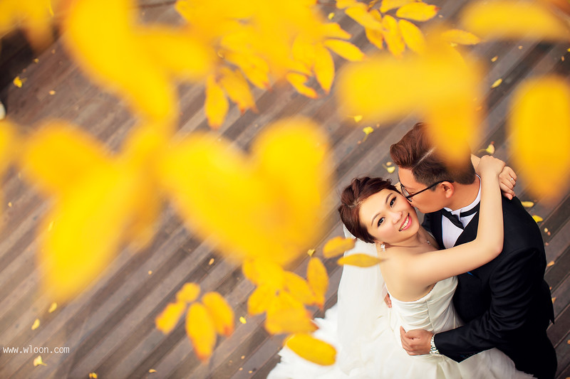 autumn pre wedding