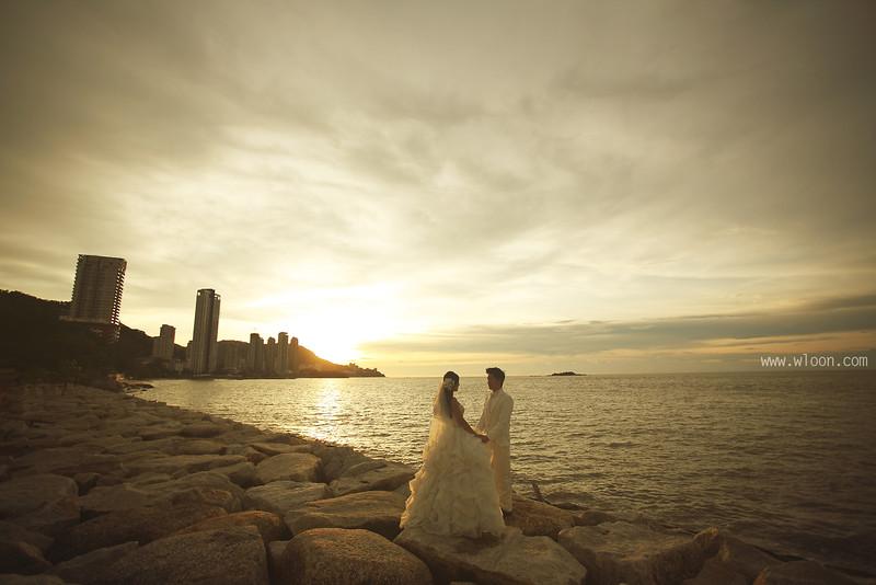 sunset pre wedding