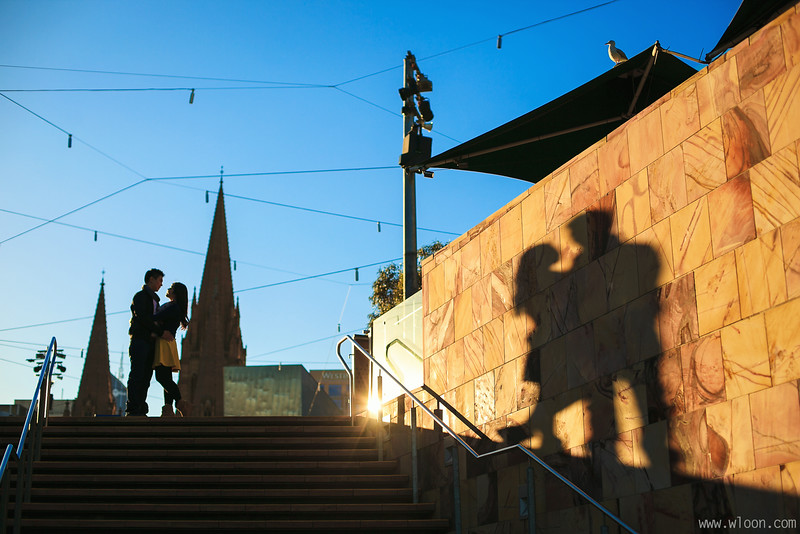 Melbourne Federation Square Pre Wedding